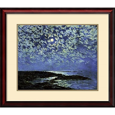 Amanti Art Moonlight, Isle of Shoals 1892 Framed Art by Frederick Childe Hassam (DSW419230)