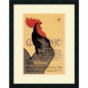 "Amanti Art ""Cocorico, 1899"" Framed Art by Theophile Alexandre Steinlen"