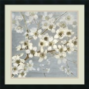 """Amanti Art """"Silver Blossoms II"""" Framed Art by Elise Remender"""