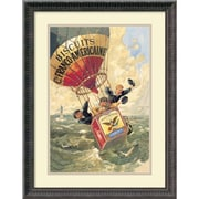 """Amanti Art """"Biscuits Franco-Americaine, 1888"""" Framed Art by Theophile Alexandre Steinlen"""