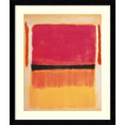 "Amanti Art ""Untitled (Violet, Black, Orange, Yellow on White and Red), 1949"" Framed Art by Mark Rothko"