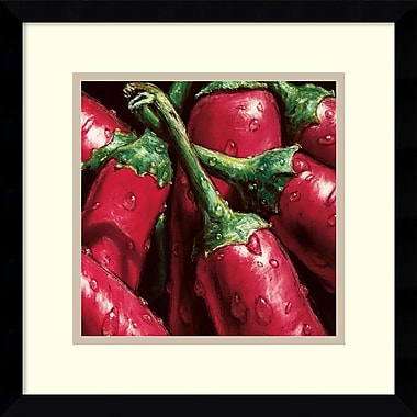 Amanti Art Hot Peppers Framed Art by AlmaCh (DSW979700)