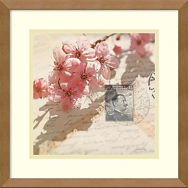 Amanti Art Vintage Letters and Cherry Blossoms Framed Art by Deborah Schenck (DSW981524)