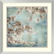 "Amanti Art ""Aqua Blossoms II"" Framed Art by John Seba"