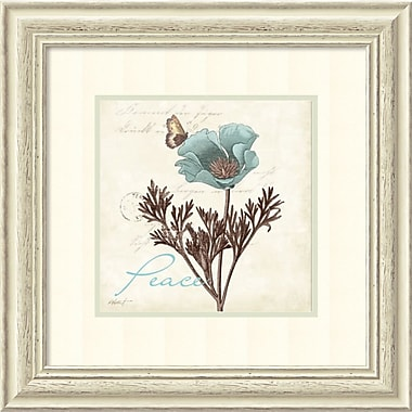 Amanti Art Touch of Blue I Peace Framed Art by Katie Pertiet (DSW982632)