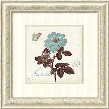Amanti Art Touch of Blue II Faith Framed Art by Katie Pertiet (DSW982641)