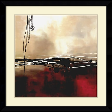 Amanti Art ? Impression encadrée « Symphony in Red and Khaki I » par Laurie Maitland (DSW982689)