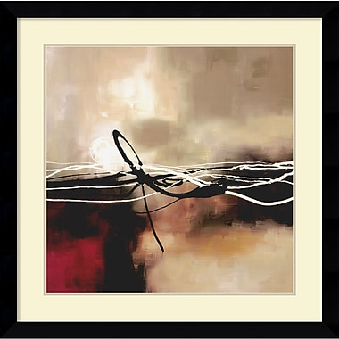 Amanti Art Symphony in Red and Khaki II Framed Art by Laurie Maitland (DSW982690)