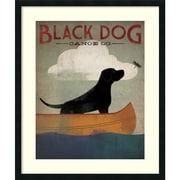 "Amanti Art ""Black Dog Canoe"" Framed Art by Ryan Fowler"