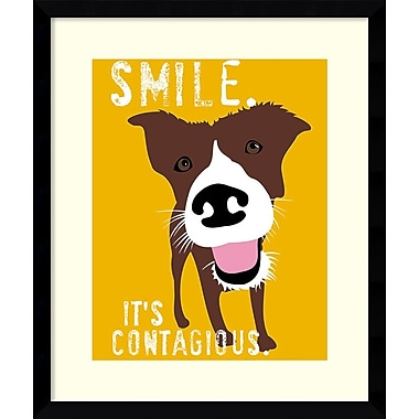 Amanti Art Smile Framed Art by Ginger Oliphant (DSW986623)