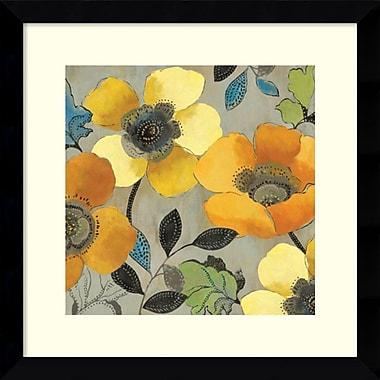 Amanti Art ? Art encadré « Pavots jaunes et orange II » par Allison Pearce (DSW986668)