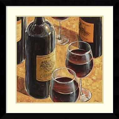 Amanti Art Wine Tasting I Framed Art by Karen Emery (DSW986947)