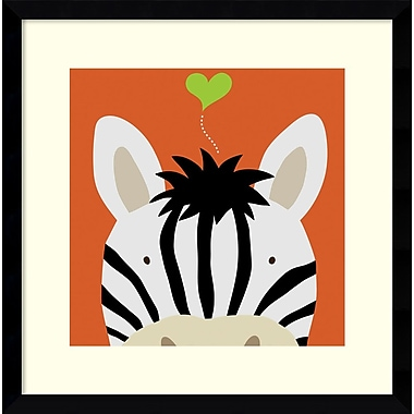 Amanti Art Peek-a-Boo Zebra Framed Art by Yuko Lau (DSW987017)