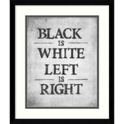 "Amanti Art ""Black is White"" Framed Art by Urban Cricket"