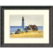"Amanti Art ""Lighthouse and Buildings, Portland Head, 1927"" Framed Art by Edward Hopper"