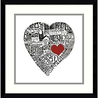 Amanti Art Love in 44 Languages Framed Art by L.A. Pop Art (DSW987567)