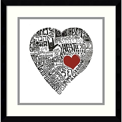 "Amanti Art ""Love in 44 Languages"" Framed Art by L.A. Pop Art"