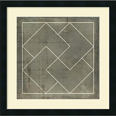 Amanti Art Geometric Blueprint III Framed Art by Vision Studio (DSW987654)