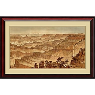 Amanti Art Grand Canyon, Panorama from Point Sublime, 1882 Framed Art by William Henry Holmes (DSW987770)