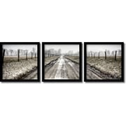 "Amanti Art ""Picket Path Triptych - Set of 2"" Framed Art by Todd Ridge"