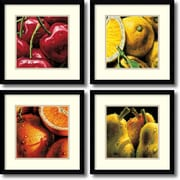 "Amanti Art ""Fruit - Set of 2"" Framed Art by Alma'Ch"