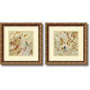"Amanti Art ""Singing, gold frame - Set of 2"" Framed Art by Asia Jensen"