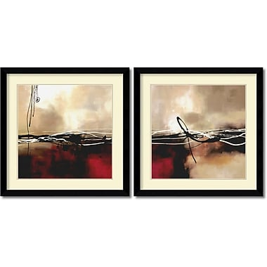 Amanti Art Symphony in Red & Khaki Framed Art by Laurie Maitland, 2/Pack (DSW995055)
