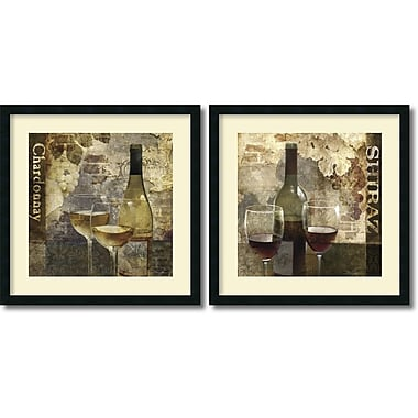 Amanti Art Chardonnay & Shiraz Framed Art by Keith Mallett, 2/Pack (DSW995056)