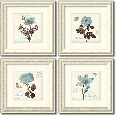 Amanti Art Touch of Blue Framed Art by Katie Pertiet, 4/Pack (DSW995064)