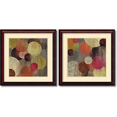 Amanti Art Magenta Bubbles Framed Art by Suzanne Nicoll, 2/Pack (DSW995066)