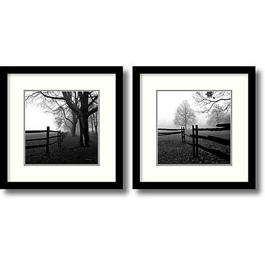 Amanti Art ? ?uvre encadrée « Corner Fence in the Mist » par Harold Silverman, 2/paquet (DSW995067)