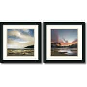 "Amanti Art ""Three Days Gone/Beyond the Sun - Set of 2"" Framed Art by William Vanscoy"