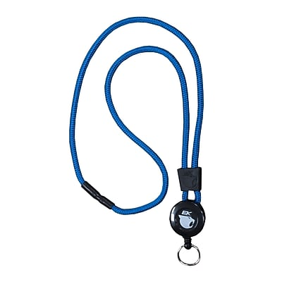 EK 10449C-C23 Retract-A-Cat Lanyard with Key Ring, Blue