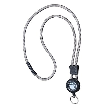 EK 10449C-C77 Retract-A-Cat Lanyard with Key Ring, Pewter