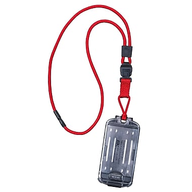 EK 10935C-C21 Guardian Card Holder with Detachable Lanyard, Red