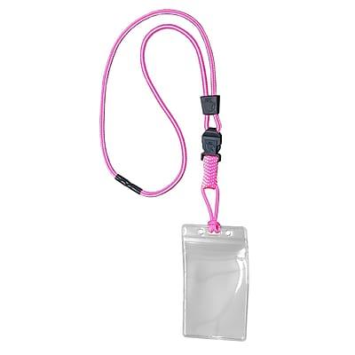 EK 11093C-C103 Lanyard with Vertical Zip Pouch, Pink
