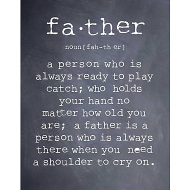 Evive Designs 'Father' by Susan Newberry Textual Art