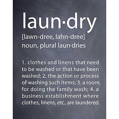 Evive Designs Laundry by Susan Newberry Textual Art