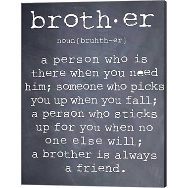 Evive Designs Brother by Susan Newberry Textual Art on Canvas