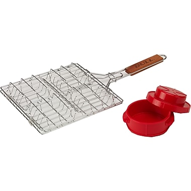 Bull Outdoor 2 Piece BBQ Basket and Press Set