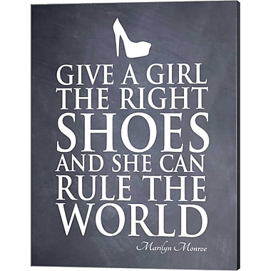 Evive Designs 'Give a Girl' by Susan Newberry Textual Art on Canvas