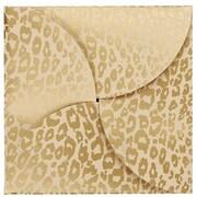 Shamrock Gift Card Folder, Golden Cheetah, 6X6