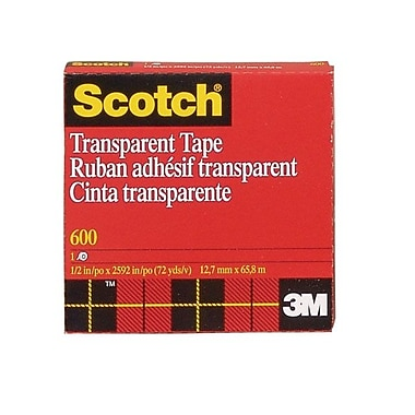 Shamrock Scotch Tape, Transparent, #600, 1/2X72 yard