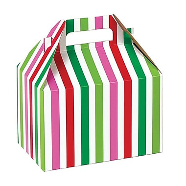 Shamrock Gable Box, Santa Stripe, 8