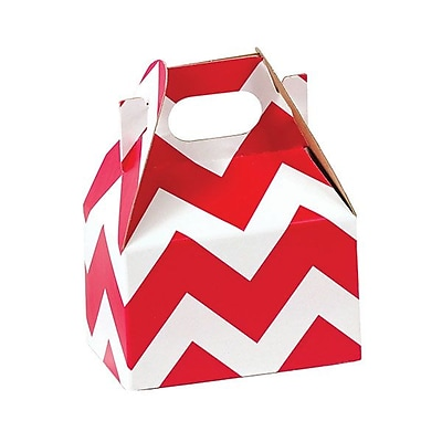 Shamrock Gable Box, Mini, Red Chevron