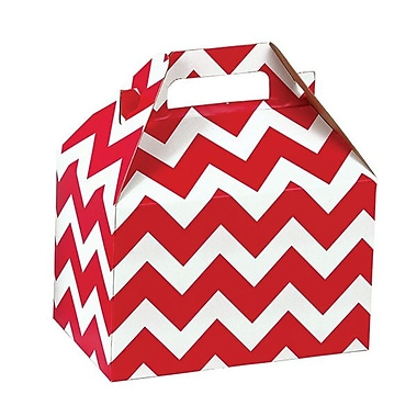 Shamrock Gable Box, Red Chevron, 8