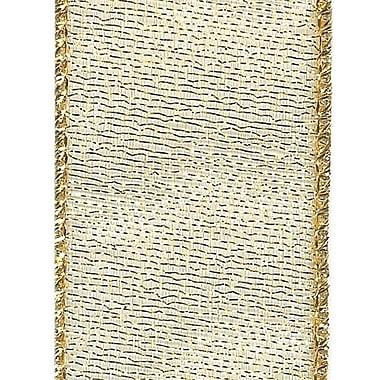 Shamrock Envy Wired Ribbon, Gold, 1.5X25
