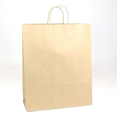 Shamrock Natural Kraft Paper Shopper, Zebra