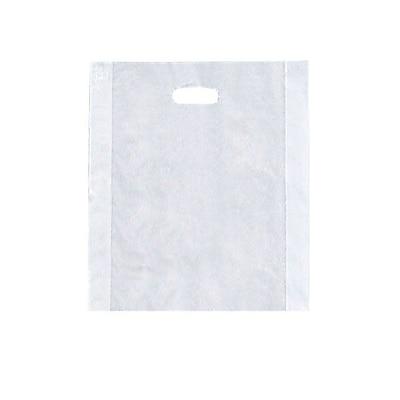 Shamrock Merchandise Bag, Clear, Die-Cut Handles, 12X15