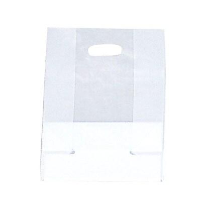 Shamrock SOS Style Bag, Clear, Die-Cut Handles with Cardboard Bottom, 10X5X13X5